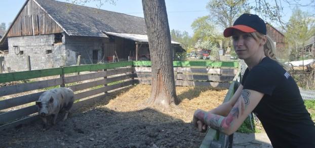 fot. W Fundacji Zwierzęca Arkadia, której współzałożycielką jest Aleksandra Gruszczyńska, znajdują schronienie również konie, kozy i świnie przeznaczone na rzeź.