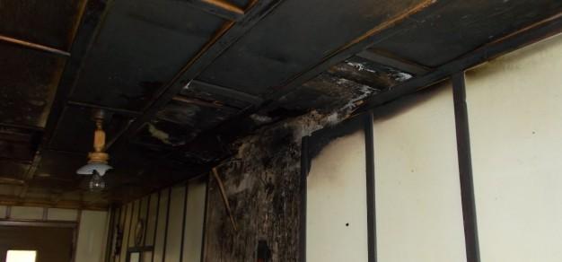 Skutki pożaru w Jankowicach