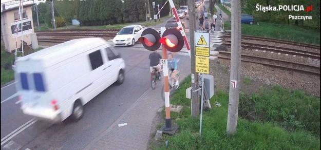 Zdjęcie z zapisu monitoringu udostępnionego przez policję (fot. KPP Pszczyna)