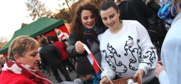 Rita i Natia zaangażowały się m.in. w organizację obchodów setnej rocznicy niepodległości w gminie Miedźna