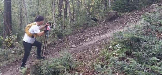 Filip na trasie 30-km rajdu Beskidy Ultra Trail we wrześniu 2019 roku / fot. archiwum rodziny Waleckich