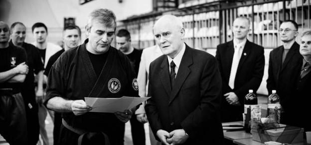 (fot. Pszczyńska Akademia Sztuk Walki) Z prawej Józef Brudny