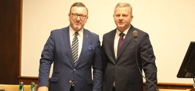 Od lewej wiceprzewodniczący Rady Miejskiej, Marek Dutkowski oraz przewodniczący Leszek Szczotka