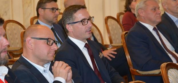 Burmistrz Pszczyny Dariusz Skrobol podczas posiedzenia Zarządu Śląskiego Związku Gmin i Powiatów w Bielsku-Białej
