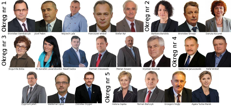 Szczegółowe wyniki kandydatów do Rady Powiatu