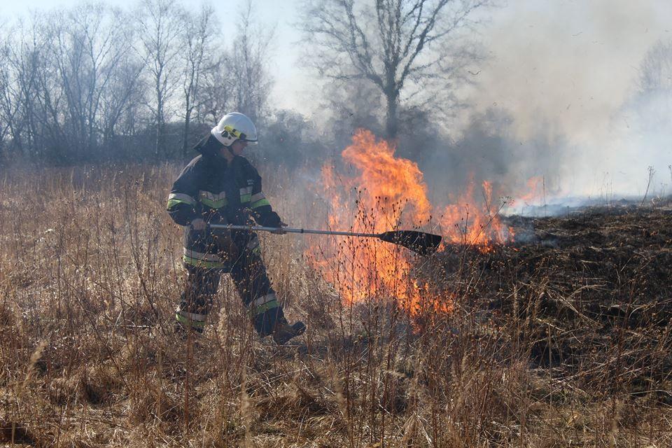Zaczęło się... W Woli paliło się prawie 10 ha trawy!