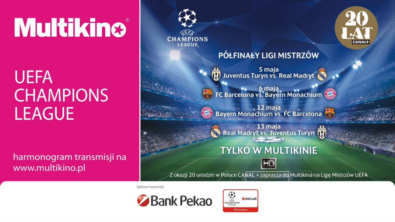 Półfinały Ligi Mistrzów na wielkim ekranie - wygraj zaproszenia!
