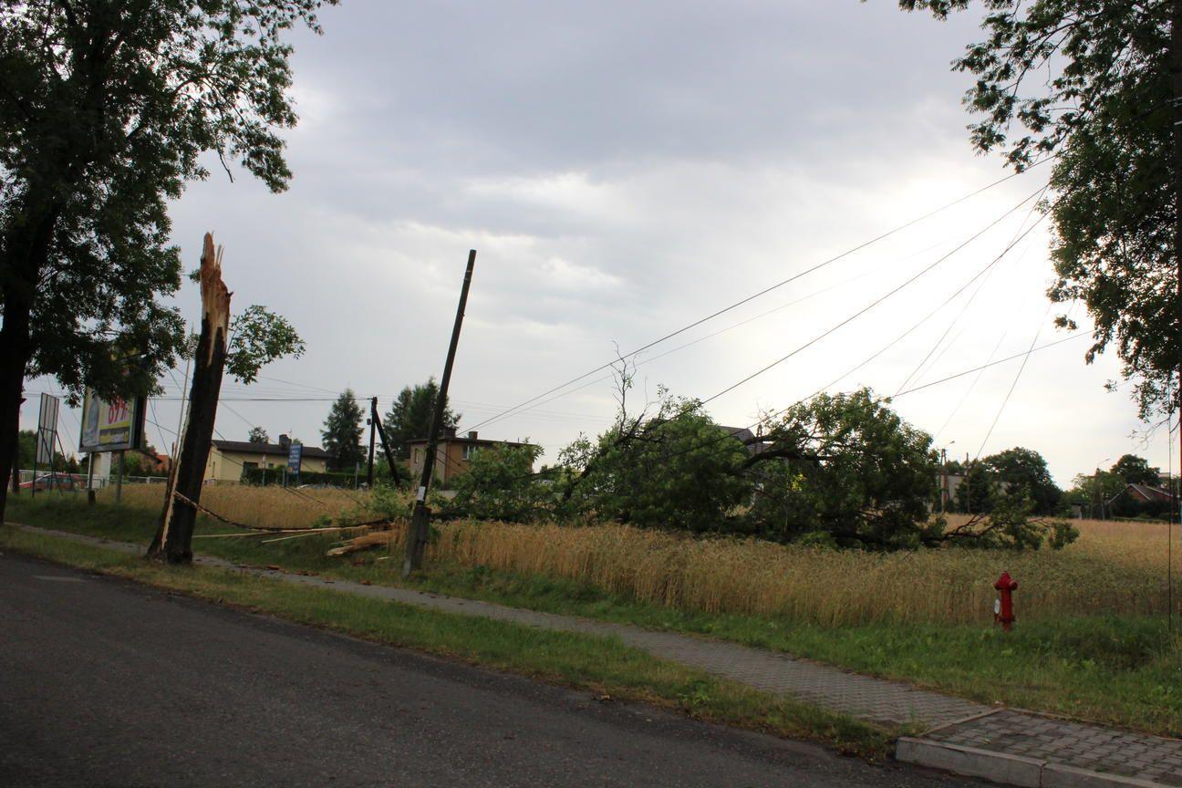 Krajobraz po wichurze: prąd już jest w całym powiecie