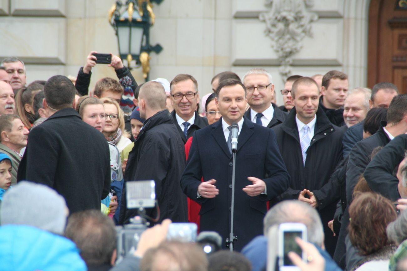 Prezydent Andrzej Duda dzisiaj w Pawłowicach