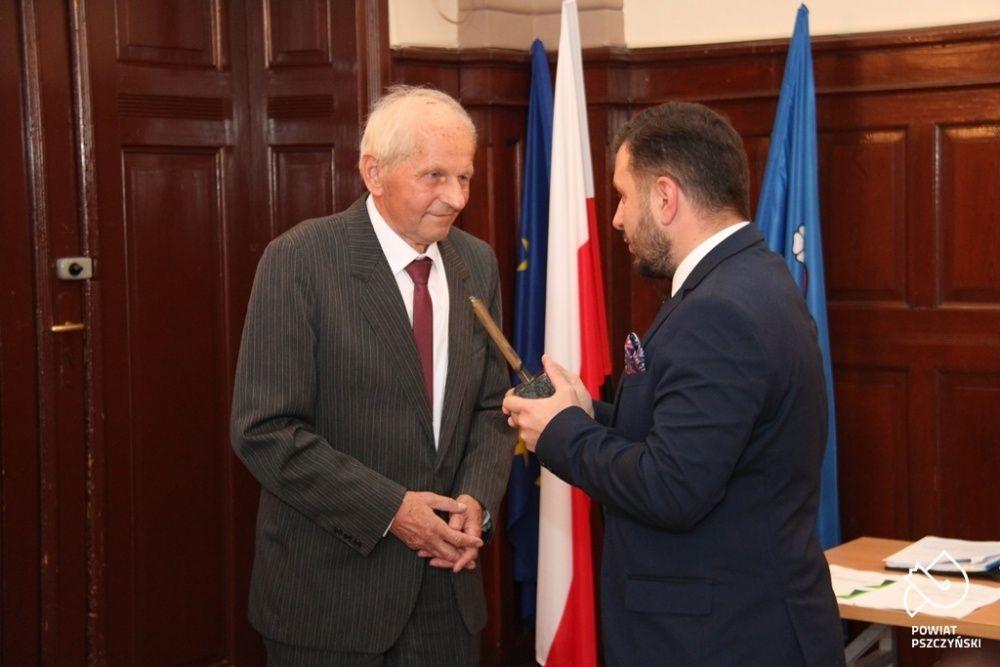 Czesław Szindler nagrodzony Żubrem Starosty Pszczyńskiego