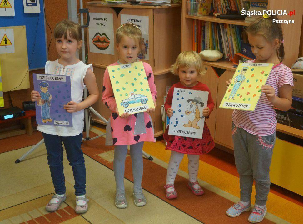Dzieci z Goczałkowic spotkały się z policjantem