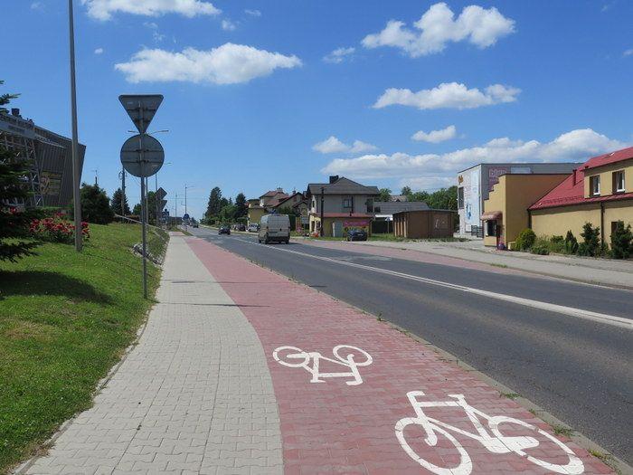 Ścieżka rowerowa przy ul. Wodzisławskiej