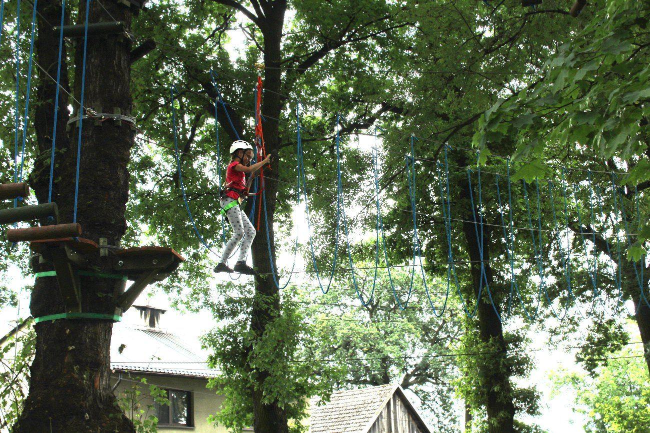 W Goczałkowicach powstał park linowy