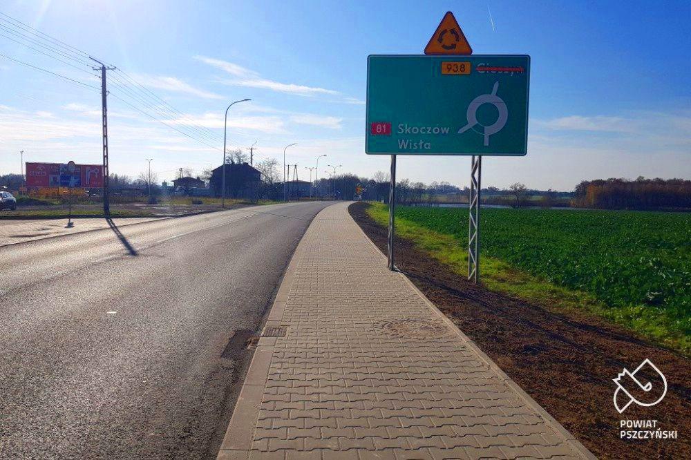 Ostatni odcinek chodnika w Pawłowicach gotowy