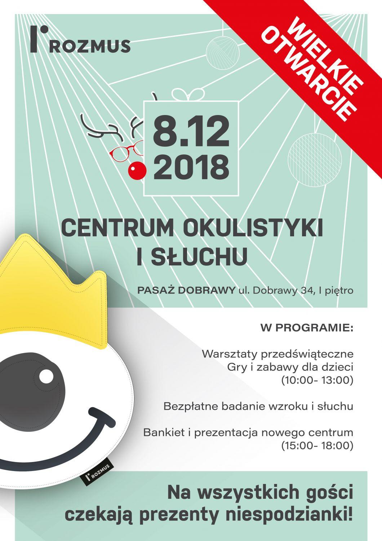 Art. spons. W sobotę otwarcie Centrum okulistyki i słuchu! Moc atrakcji dla dzieci i dorosłych