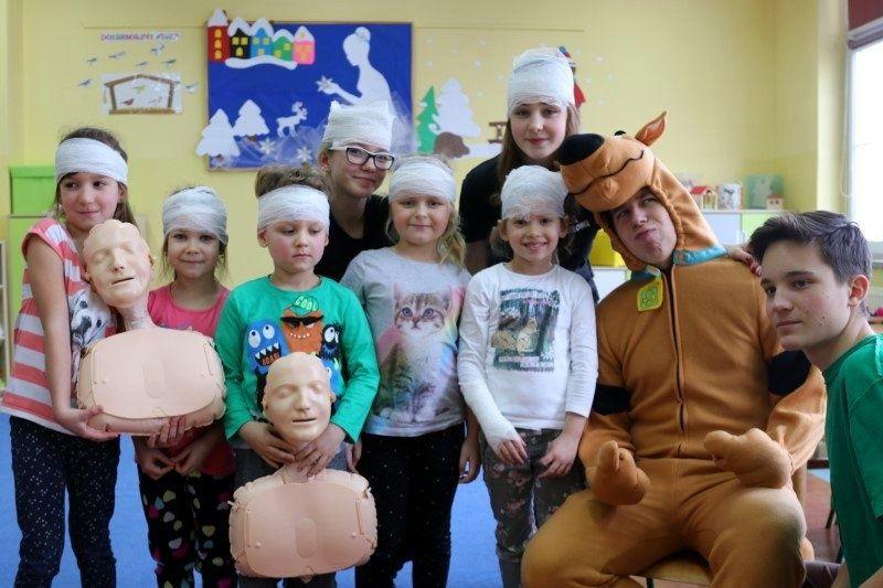 Scooby-doo pomógł w nauce pierwszej pomocy