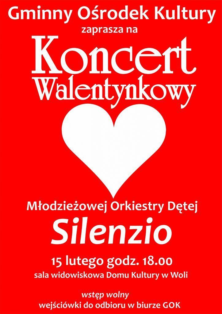 """Koncert Walentynkowy Młodzieżowej Orkiestry Dętej """"Silenzio"""""""