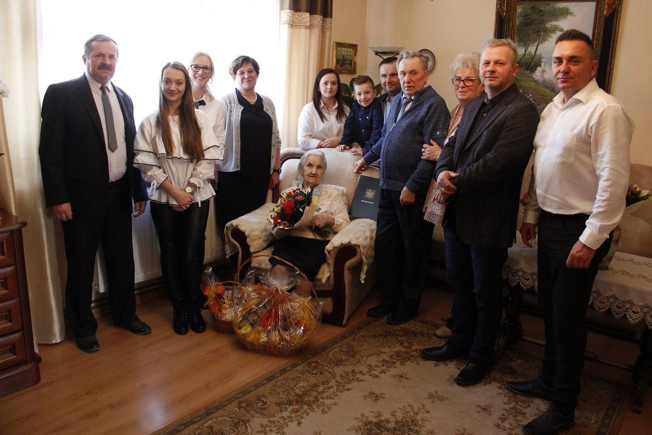 Na urodzinach u najstarszej mieszkanki gminy