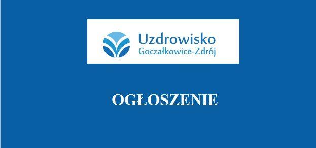 Uzdrowisko Goczałkowice-Zdrój ogłasza przetarg nieograniczony na najem pomieszczenia w budynku starej pijalni