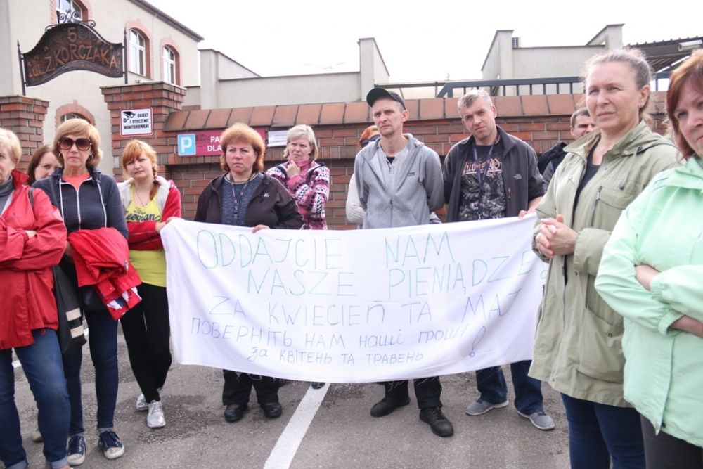 Ukraińcy pracujący w ZM Henryk Kania nie dostali wypłaty
