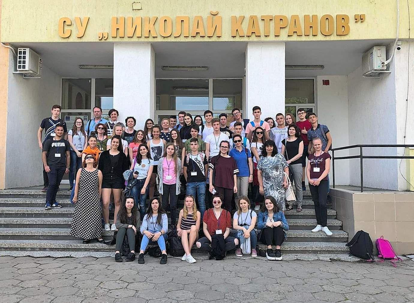 Uczniowie i nauczyciele z LO w Gilowicach na spotkaniu w Bułgarii