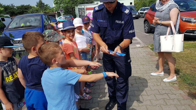 Akcja Bezpieczne Wakacje w Pawłowicach