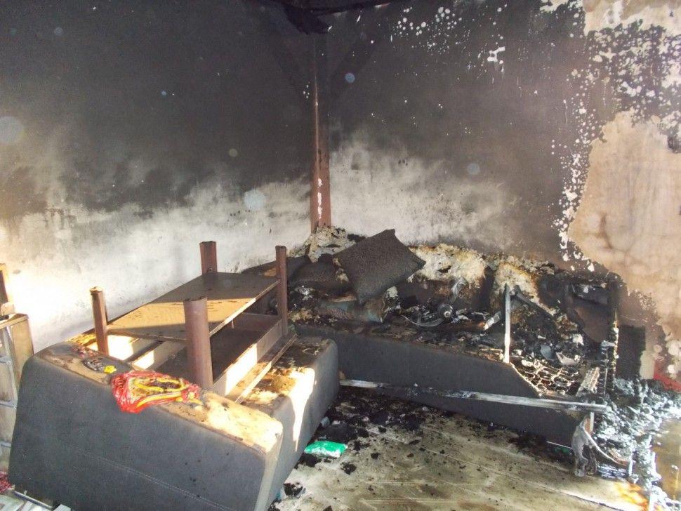 Pożar domu jednorodzinnego w Woli