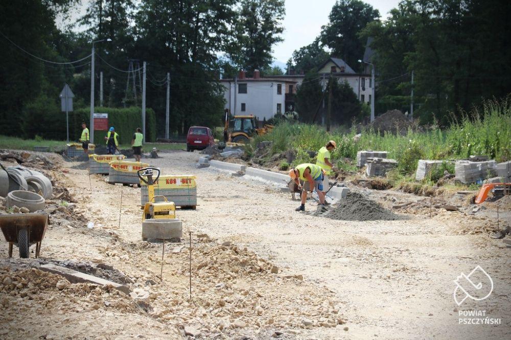 Główna droga w Wiśle Małej przechodzi gruntowną przebudowę