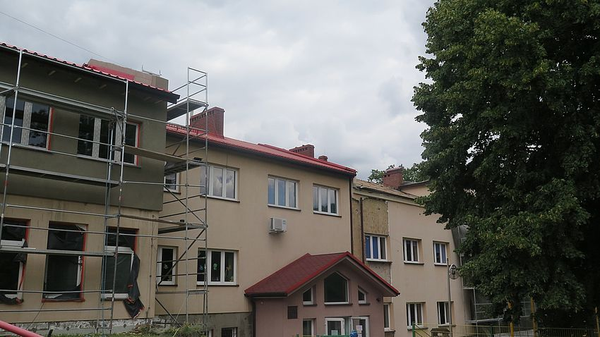 Prace budowlane w Zespole Szkolno–Przedszkolnym w Golasowicach