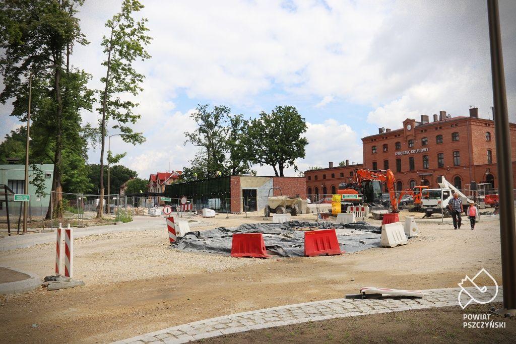 Końcowy etap budowy centrum przesiadkowego