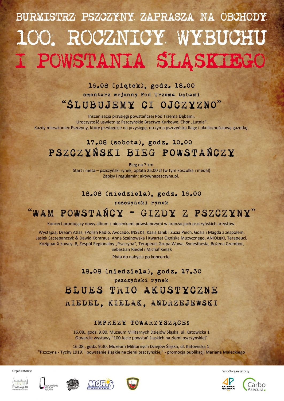Świętowanie 100. rocznicy wybuchu I Powstania Śląskiego