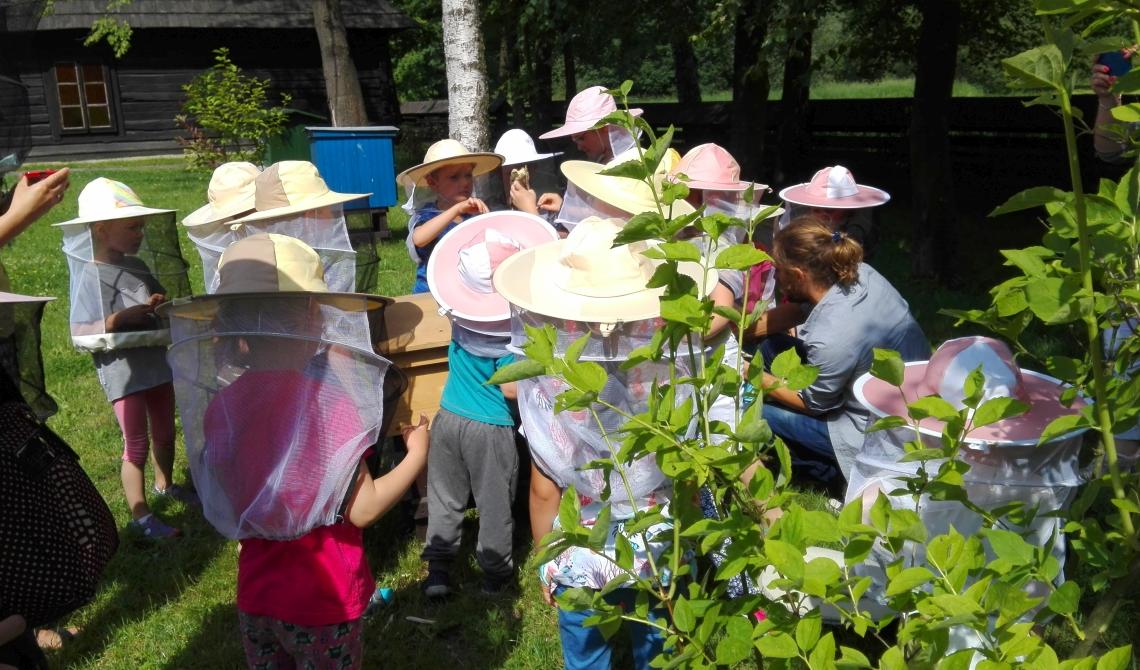 Nauka przez doświadczanie w Skansenie i Zagrodzie Żubrów. Nowy rok szkolny z warsztatami Tropem Żubra, Sekrety Pszczół oraz Magia Ziół