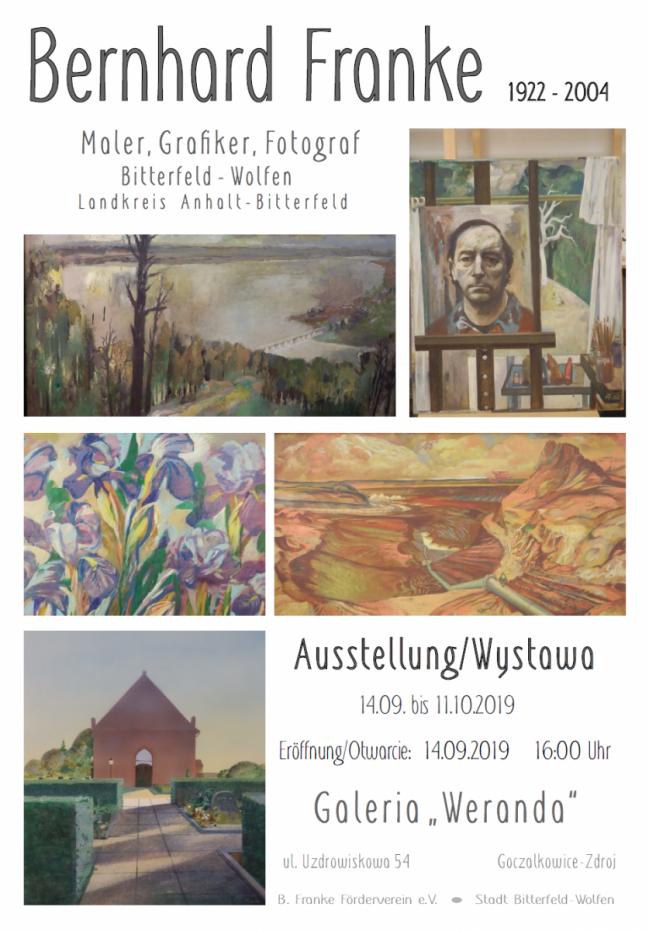 Wystawa malarstwa Bernharda Franke w goczałkowickiej Werandzie