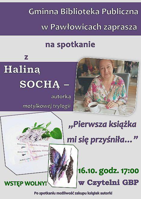 Spotkanie autorskie z Haliną Sochą