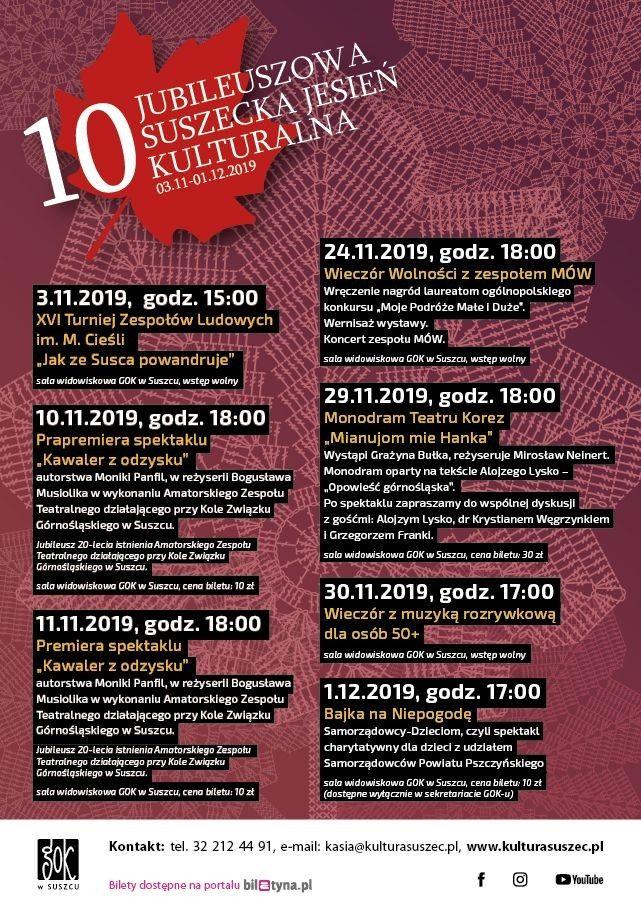 10. Jubileuszowa Suszecka Jesień Kulturalna