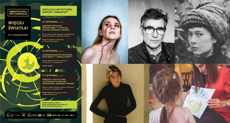 Art. spons. Projekt Więcej światła! Instalacje artystyczne, koncert i warsztaty na Zamku w Pszczynie!
