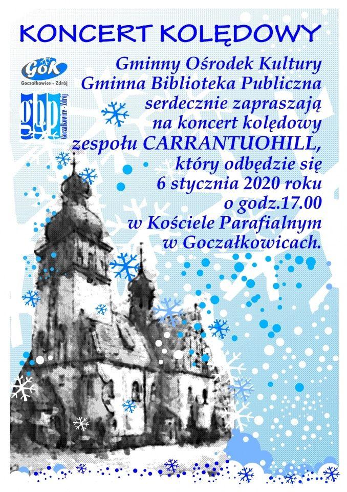 Koncert kolędowy zespołu Carrantuohill w Goczałkowicach na Święto Trzech Króli