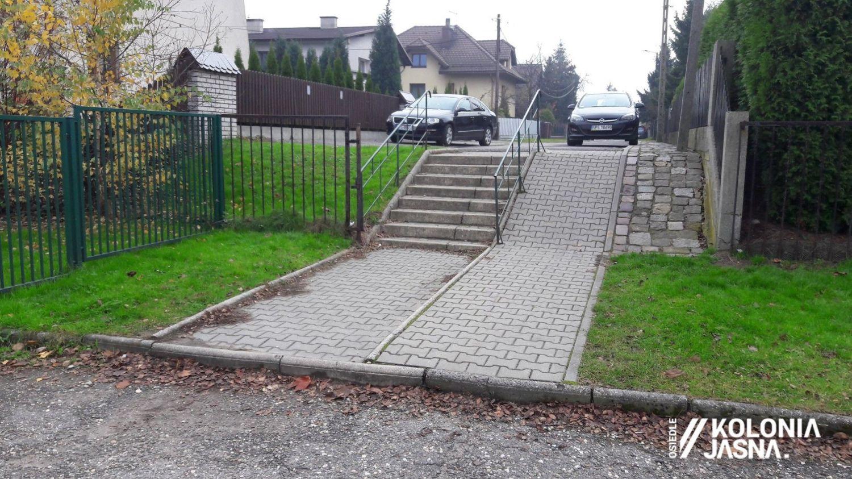 Ruszyła przebudowa schodów na osiedlu Kolonia Jasna