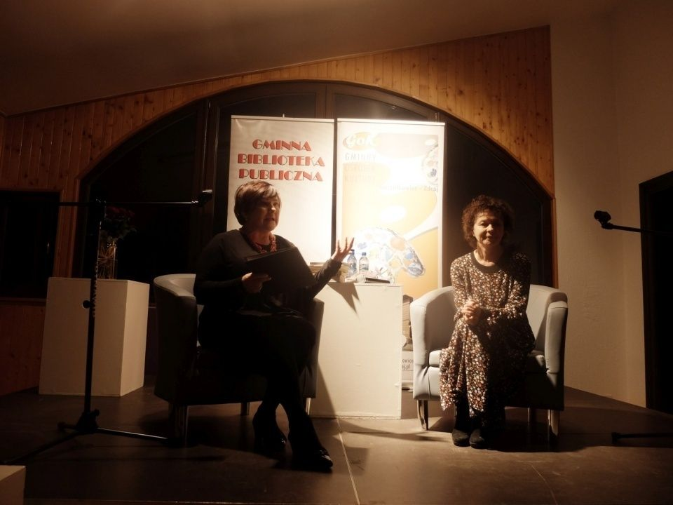 Spotkanie z Joanną Szczepkowską w goczałkowickiej bibliotece