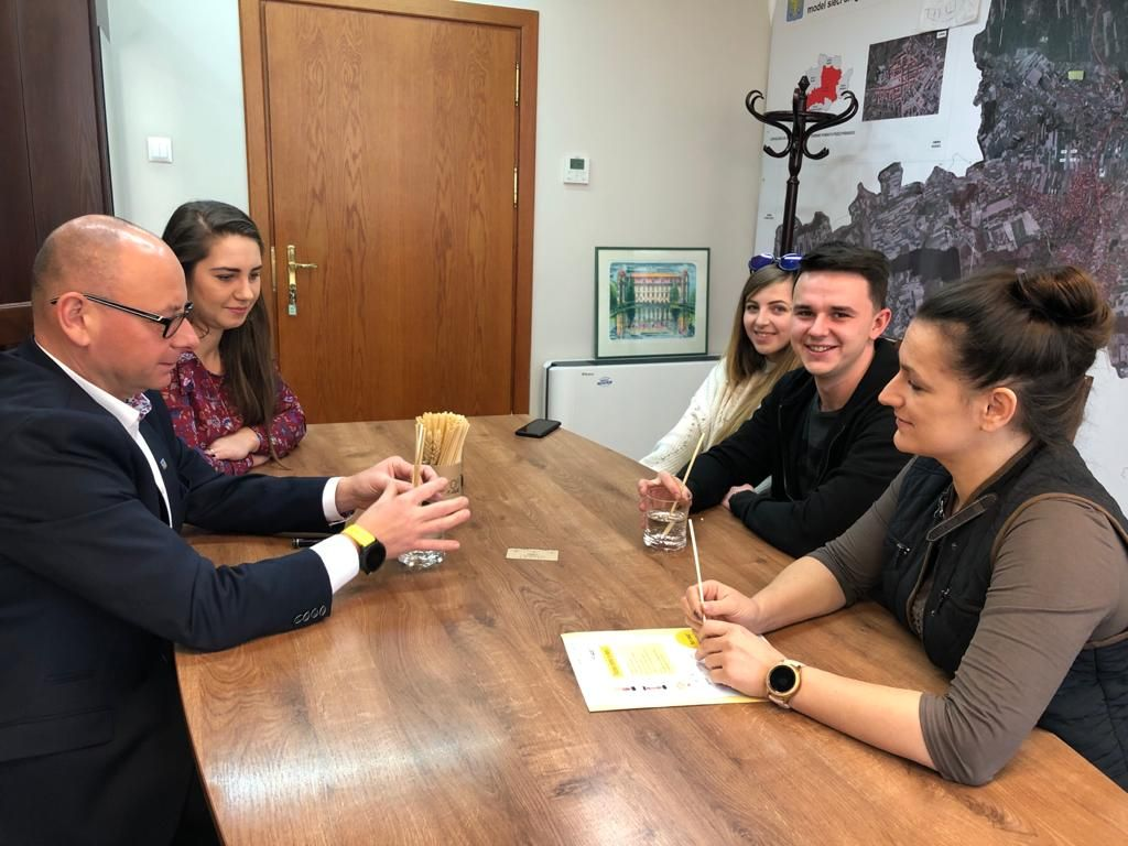 Słomki z Łąki z wizytą u burmistrza