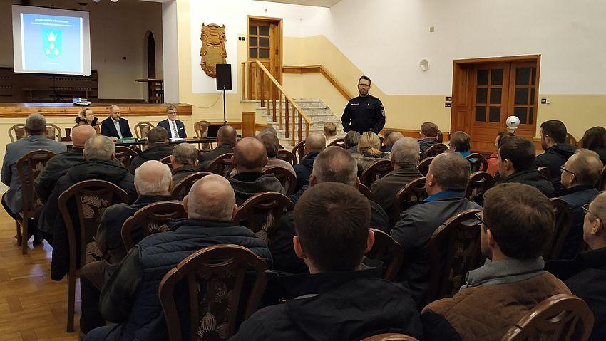 Zebranie wiejskie w Golasowicach