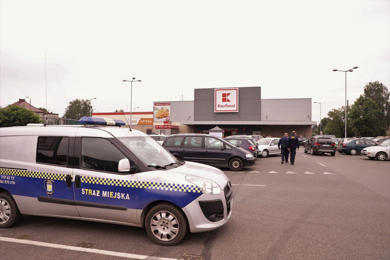 Strażnicy Miejscy kontrolują sklepy
