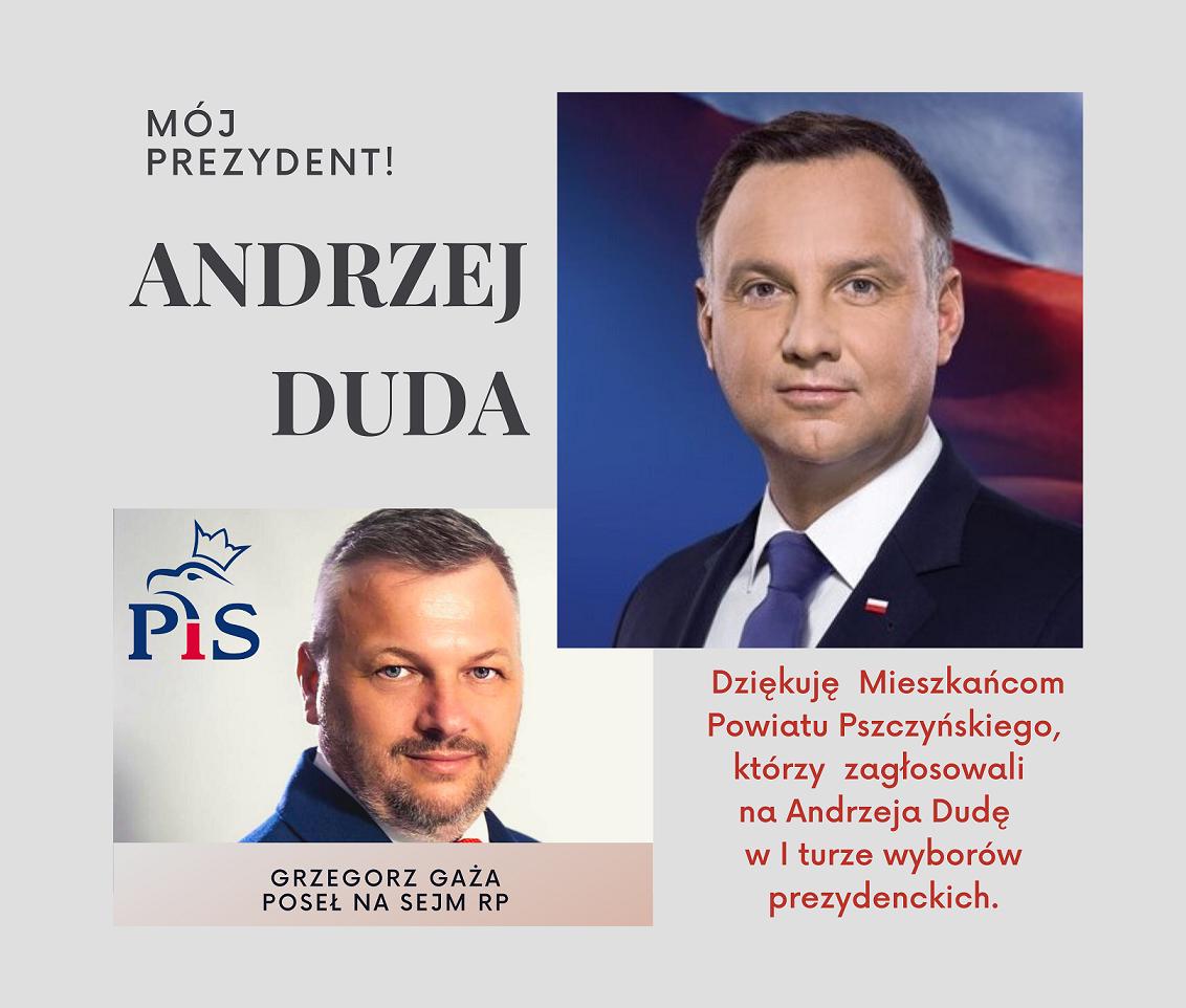 Art. spons. Andrzej Duda wygrywa Grzegorz Gaża dziękuje!