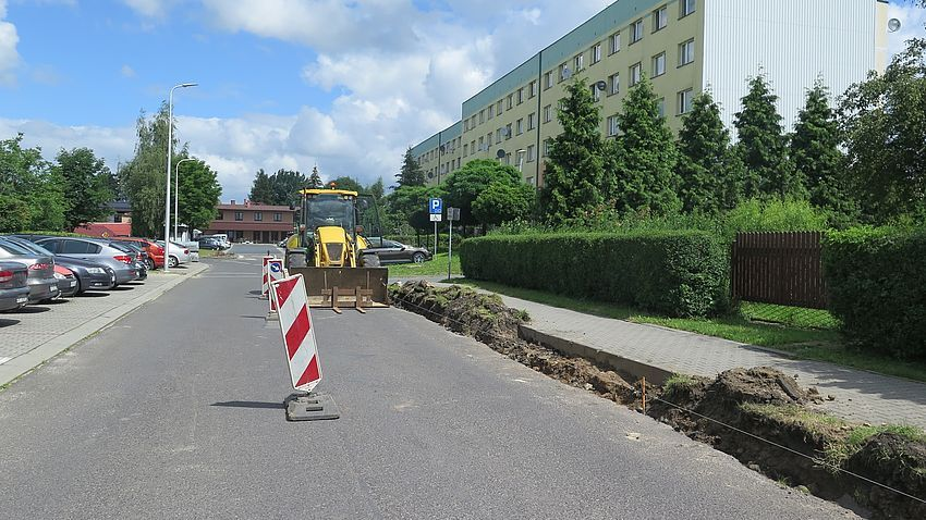 Trwa remont Górniczej w Pawłowicach