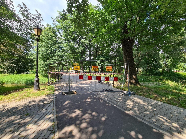Zamknięto mostek na Pszczynce