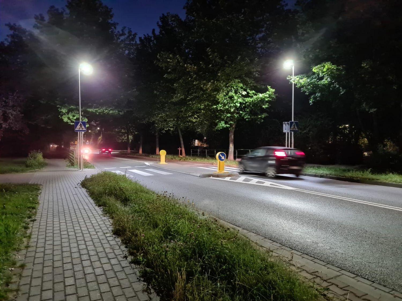 Nowe oświetlenie przejścia na ulicy Bielskiej