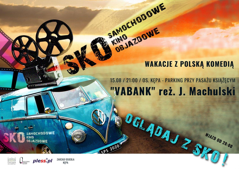 Samochodowe kino na osiedlu Kępa