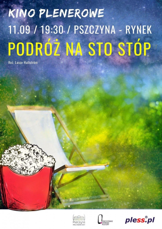 Kino plenerowe na rynku z okazji Pszczyńskiej Nocy Zakupów