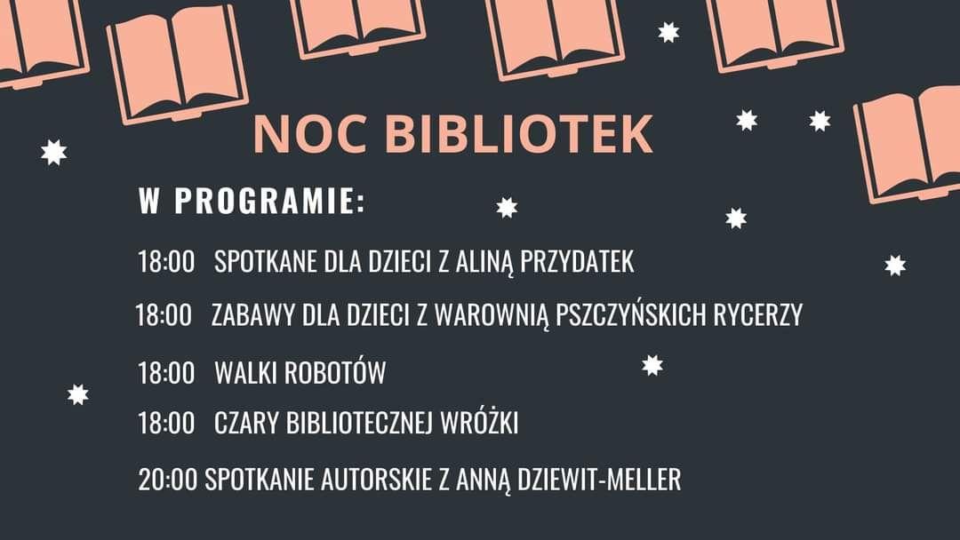 Noc Bibliotek w pszczyńskiej bibliotece