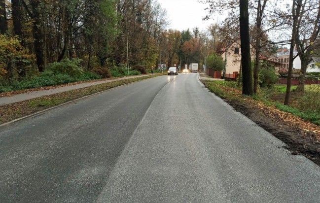 Naprawiono jezdnię na ul. Bielskiej